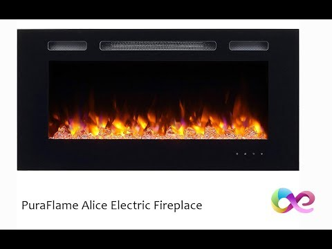PuraFlame Recessed Electric Fake Fireplace