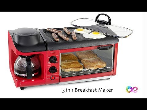 Nostalgia 3-in-1 Retro Breakfast Station - Multi-Task Your Break Fast